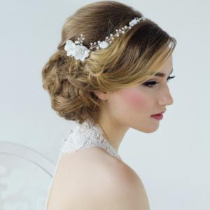 1453 Anais Bohemian Chic Headpiece - Rose Gold Bridal Hair Accessories
