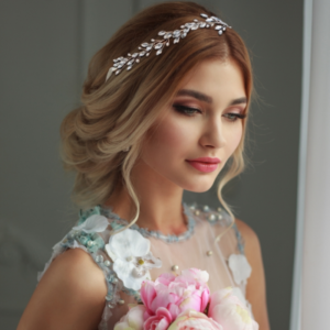 CM7247 Athena Chic Pearl Vine Set Bridal Jewelry